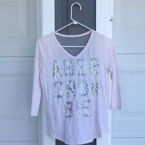 Abercrombie & Fitch Sequence Light Pink Tee